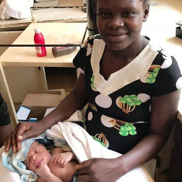 Ugandan mother and newborn baby